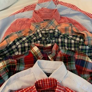 Other - Lot of boys size 6 long sleeve button down shirts